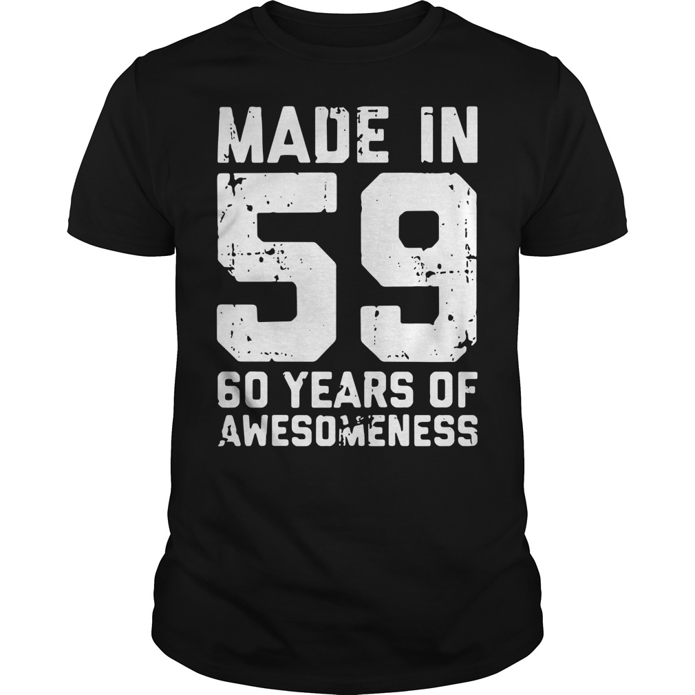 Made in 59 60 years of awesomeness Guys Shirt