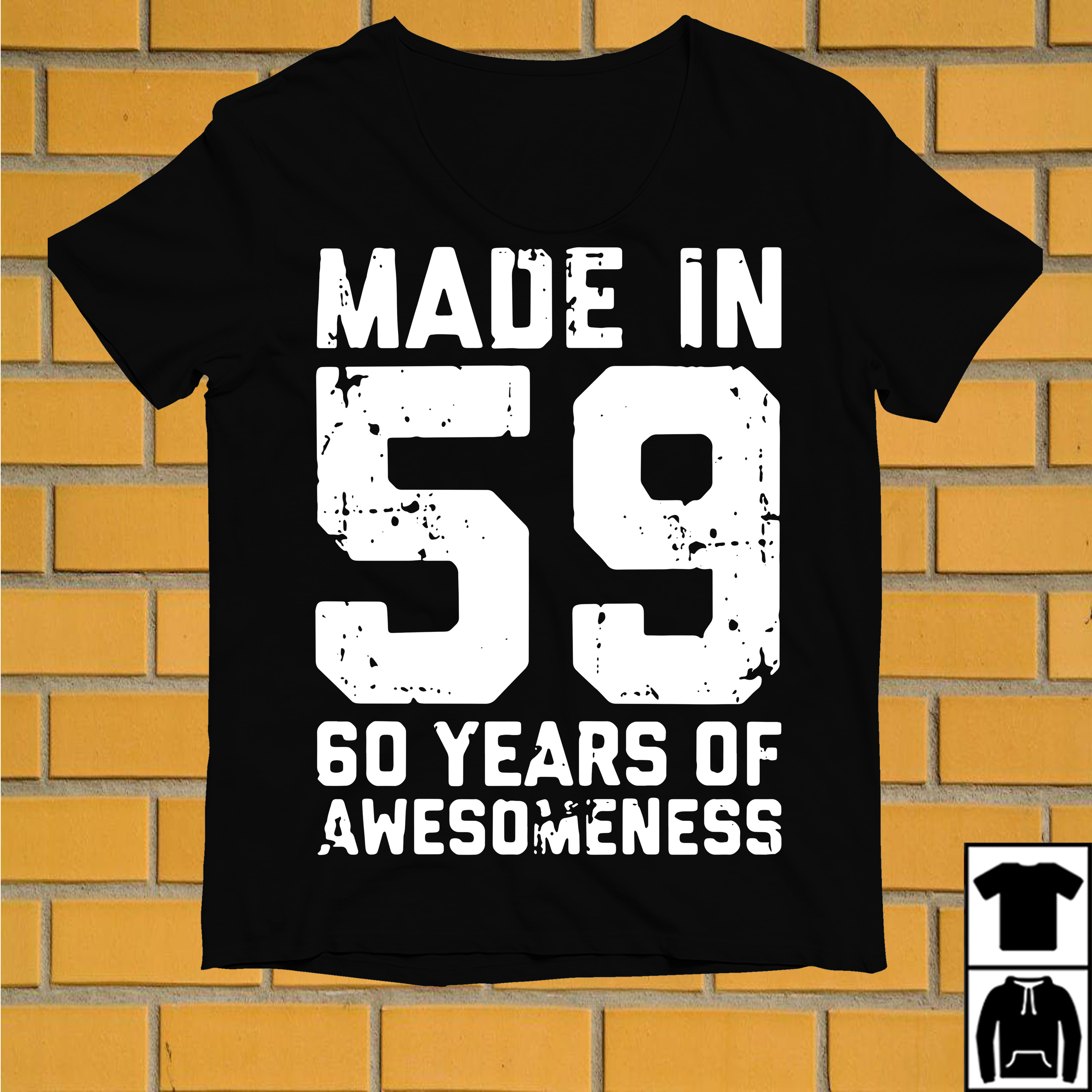 Made in 59 60 years of awesomeness shirt