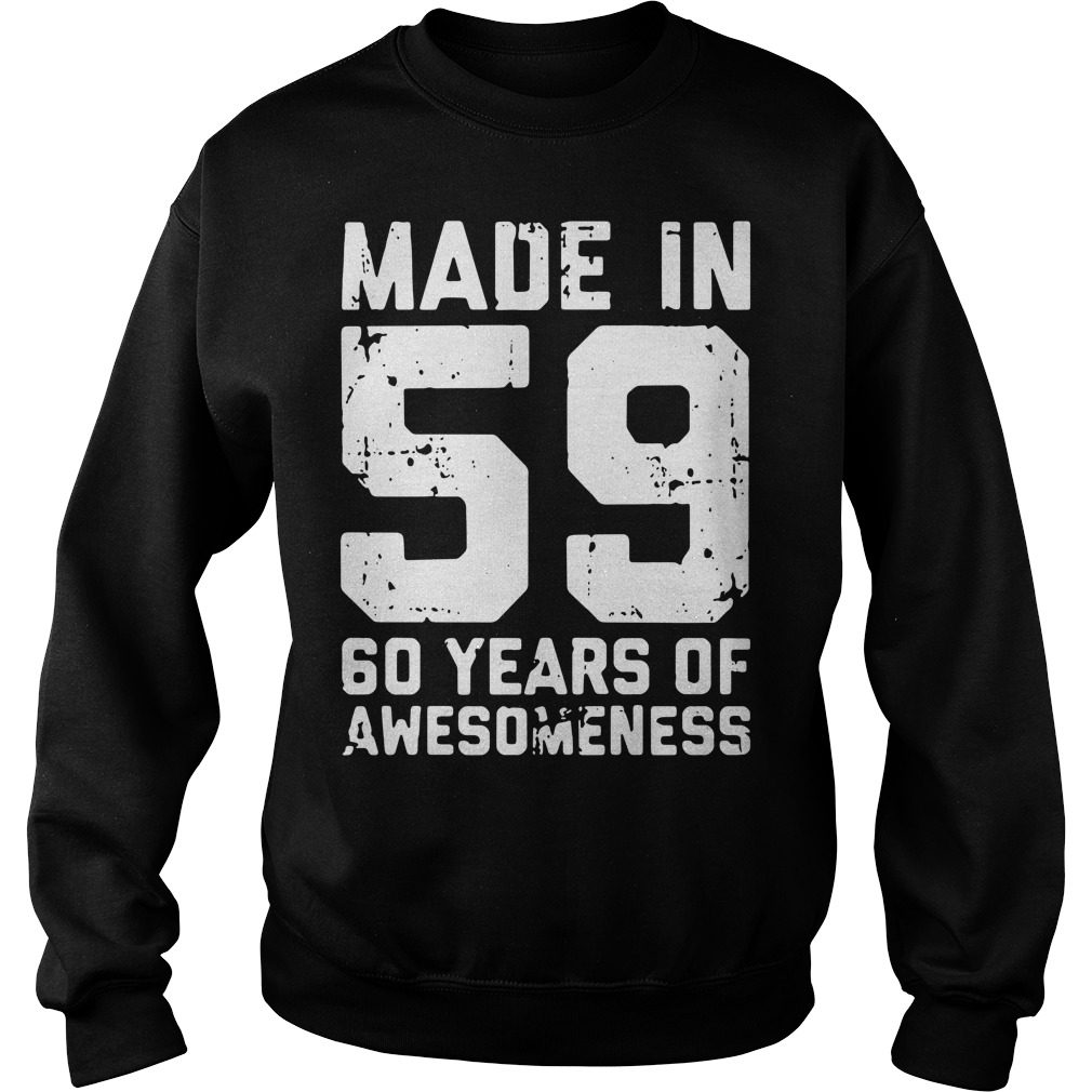 Made in 59 60 years of awesomeness Sweater