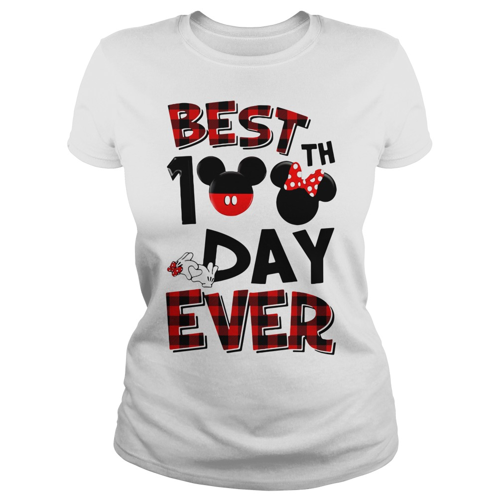 Mickey mouse best 100th day ever Ladies tee