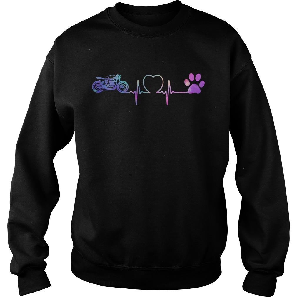 Motorbike Heartbeat Love Paw Dogs Sweater
