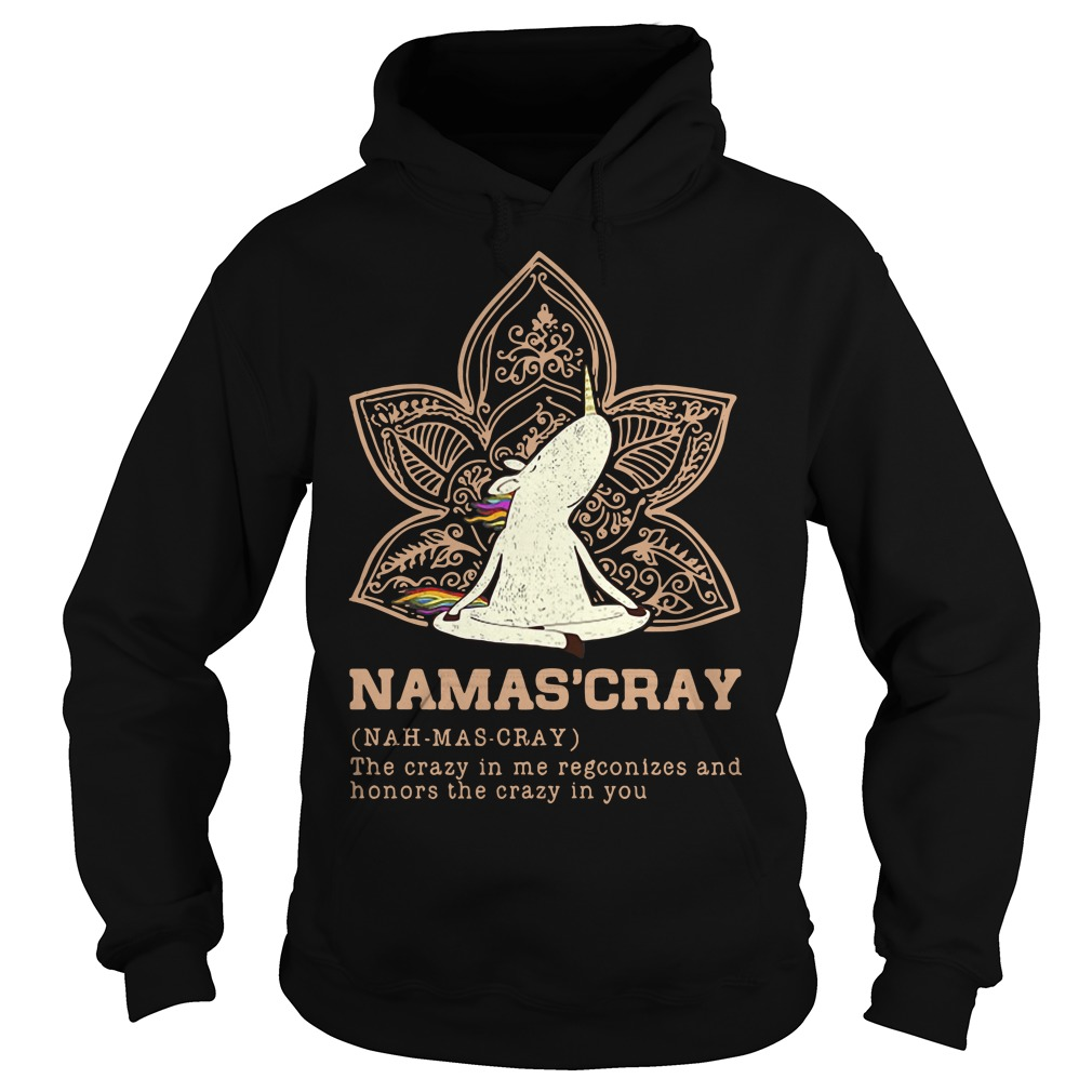 Namas'cray definition meaning the crazy in me recognizes and honors Hoodie
