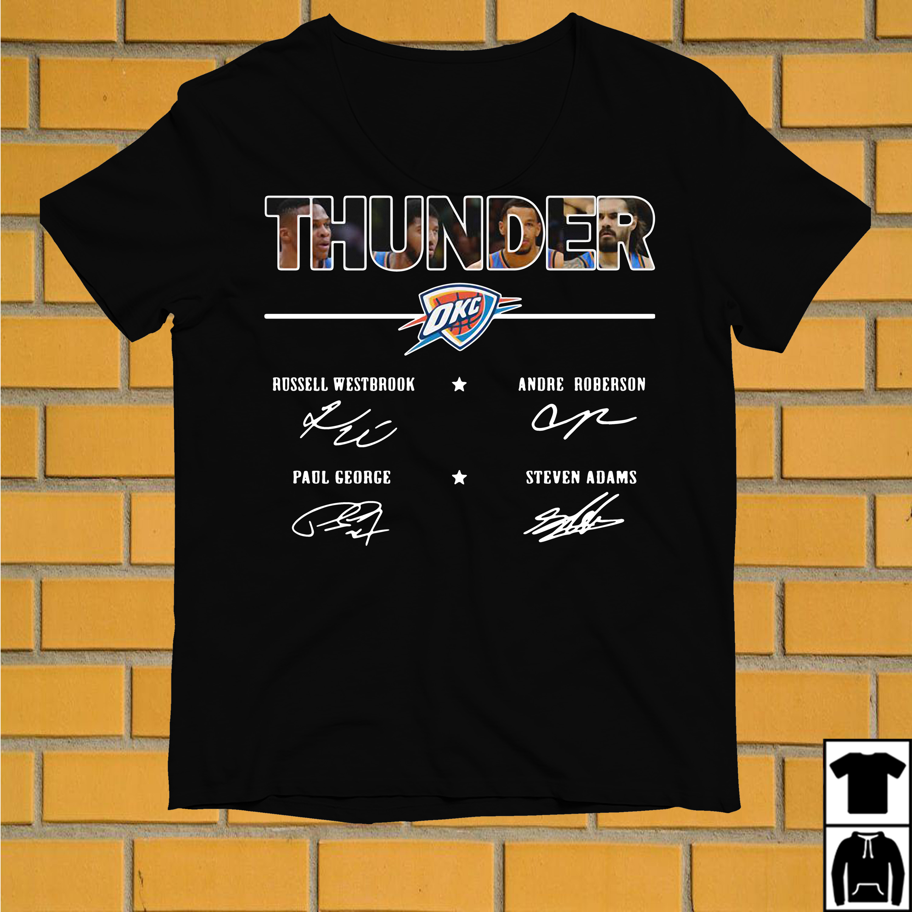 Oklahoma City Thunder Russell Westbrook Andre Roberson Paul shirt