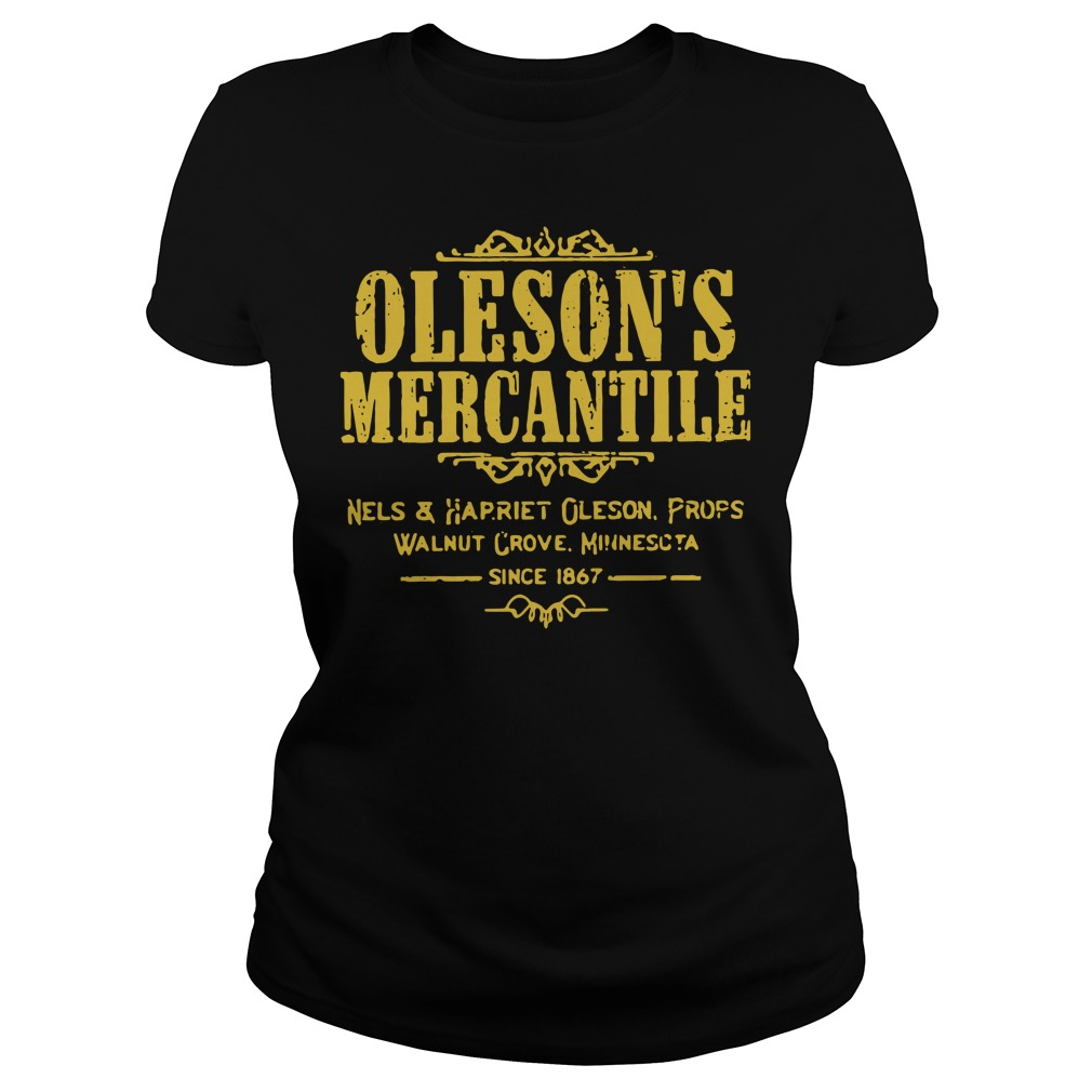 Oleson's mercantile nels and harriet Oleson props walnut grove Ladies Tee