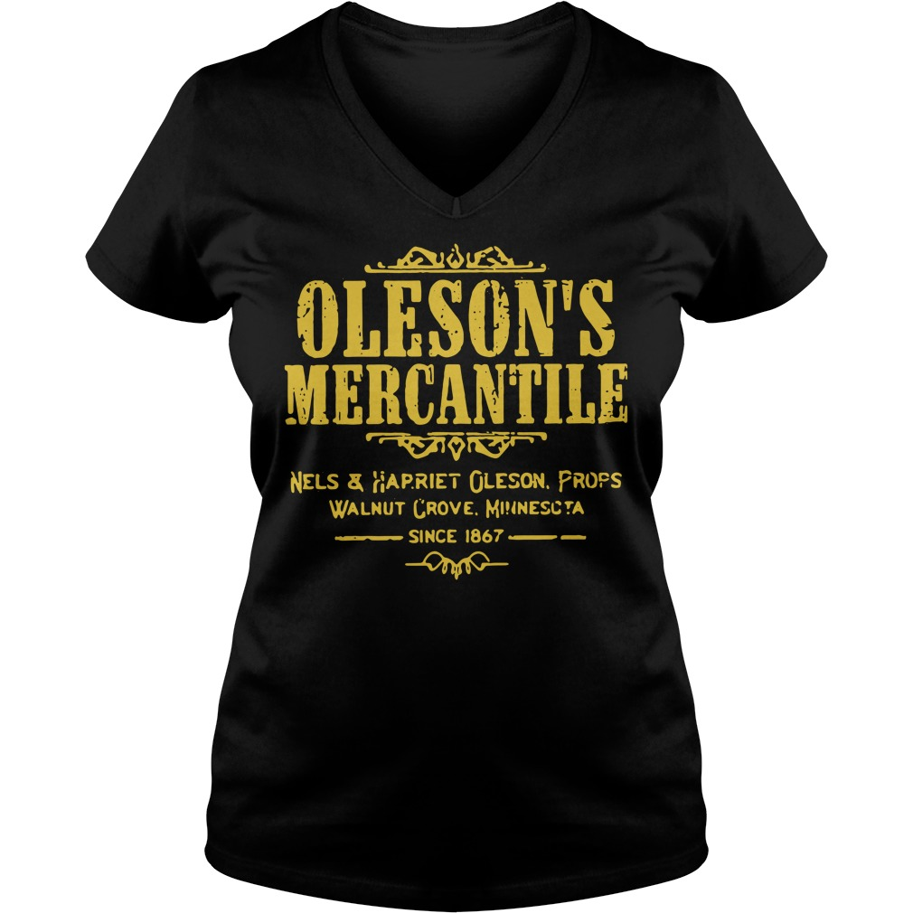 Oleson's mercantile nels and harriet Oleson props walnut grove V-neck T-shirt