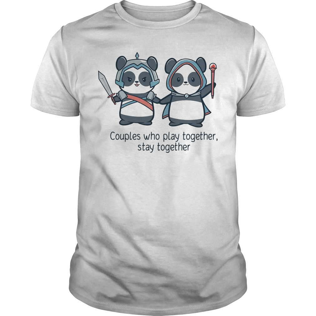 Panda Couples who play together stay together Guys shirt