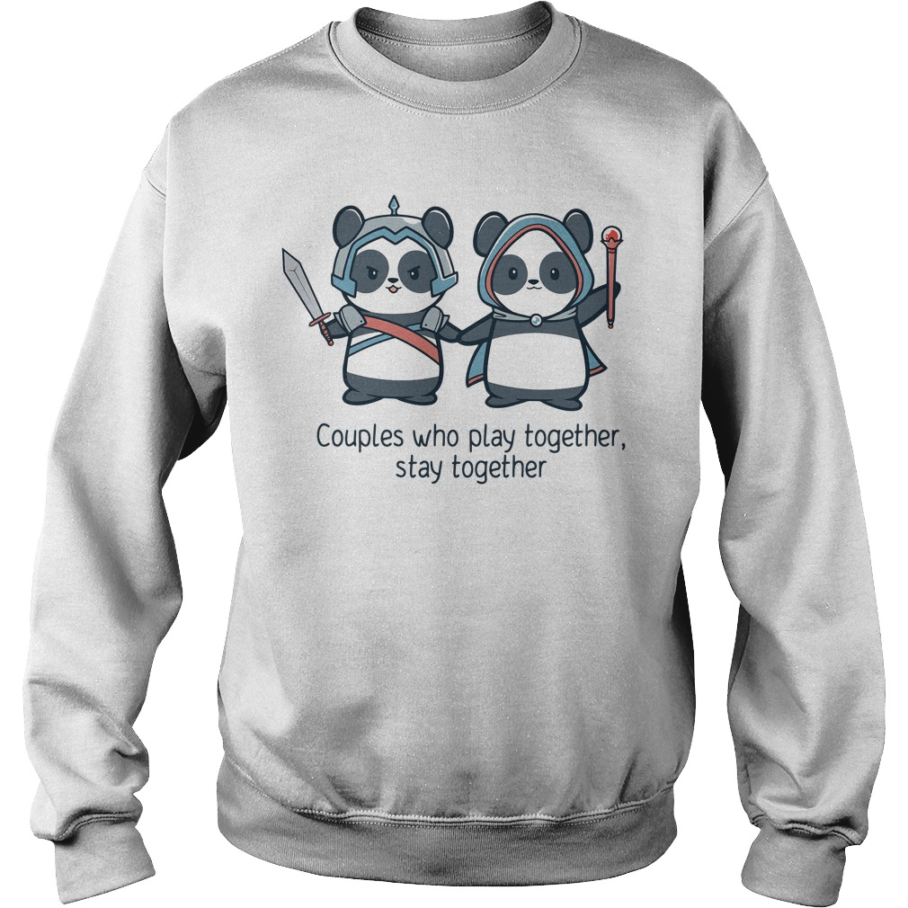 Panda Couples who play together stay together Sweater