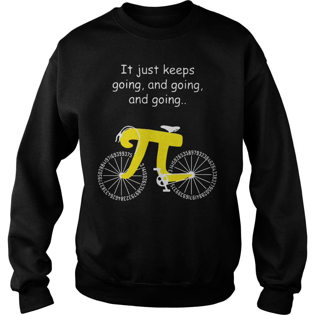 Pi Bicycle It just keeps going and going and going Sweater