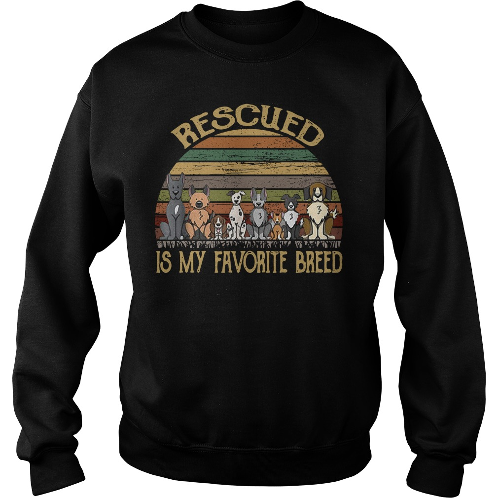 Rescued is my favorite breed vintage Sweater