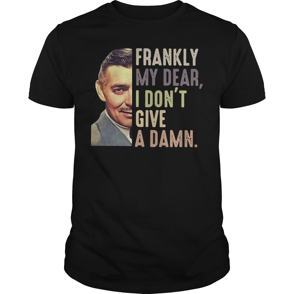 Rhett Butler frankly my dear I don't give a damn Guys shirt
