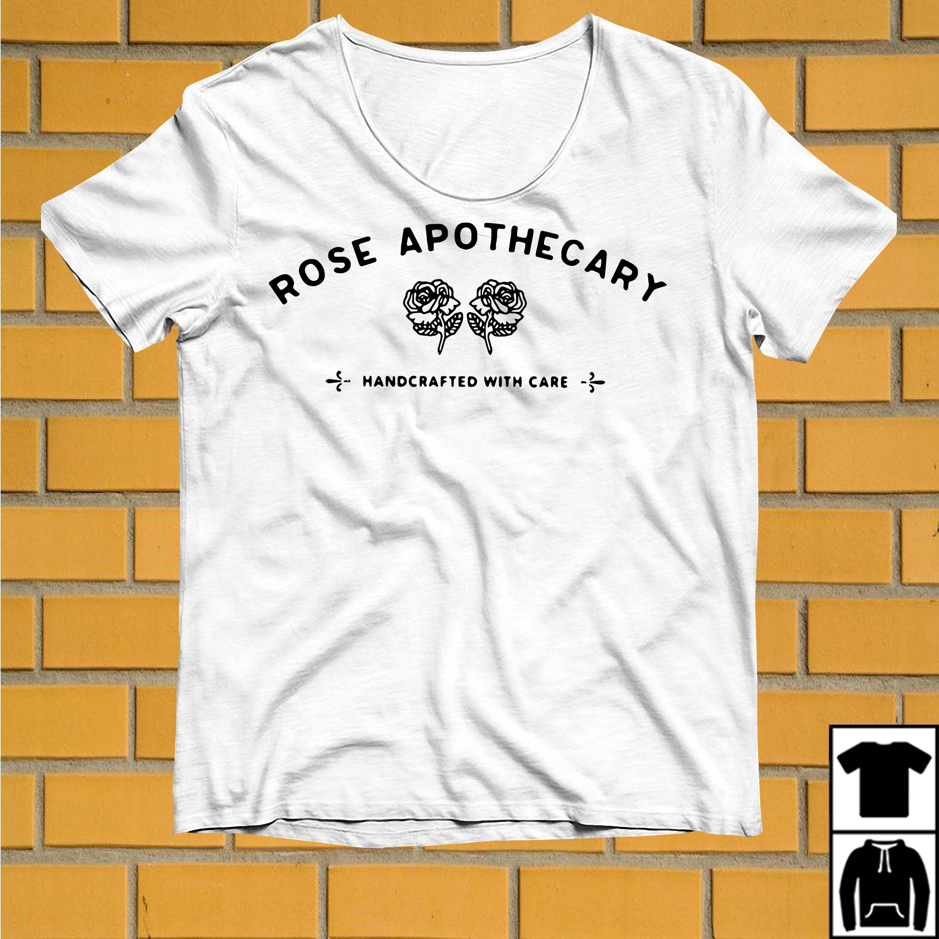 Rose Apothecary Handcrafted with care shirt