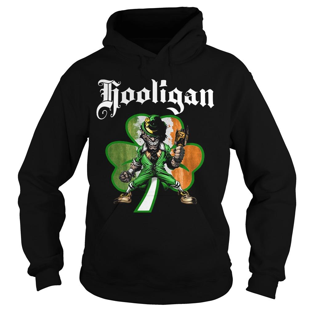 Shamrock Evil Leprechaun hooligan St Patrick's day Hoodie