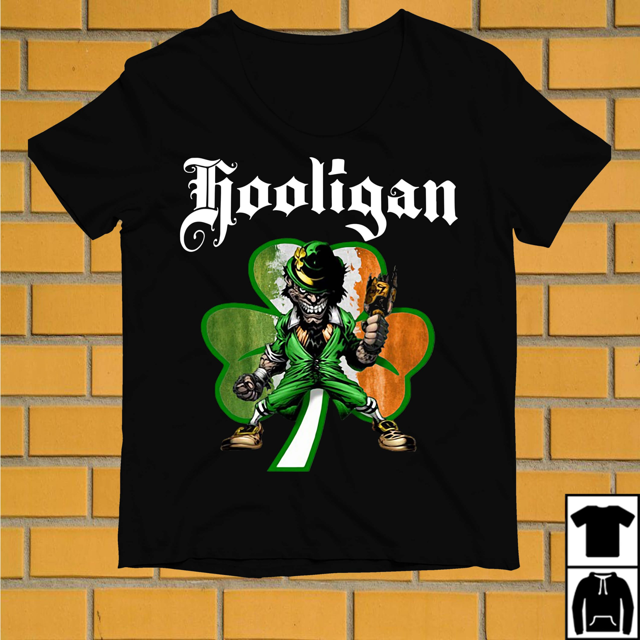 Shamrock Evil Leprechaun hooligan St Patrick's day shirt