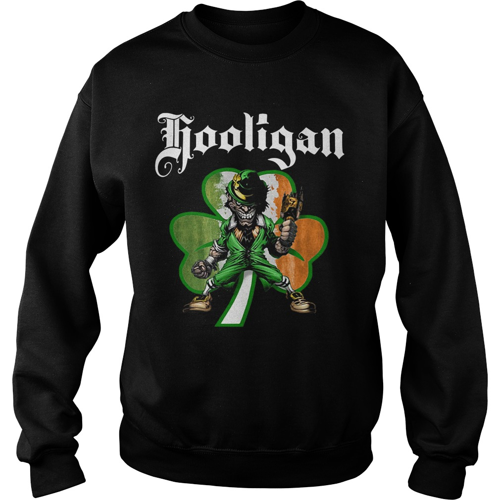 Shamrock Evil Leprechaun hooligan St Patrick's day Sweater