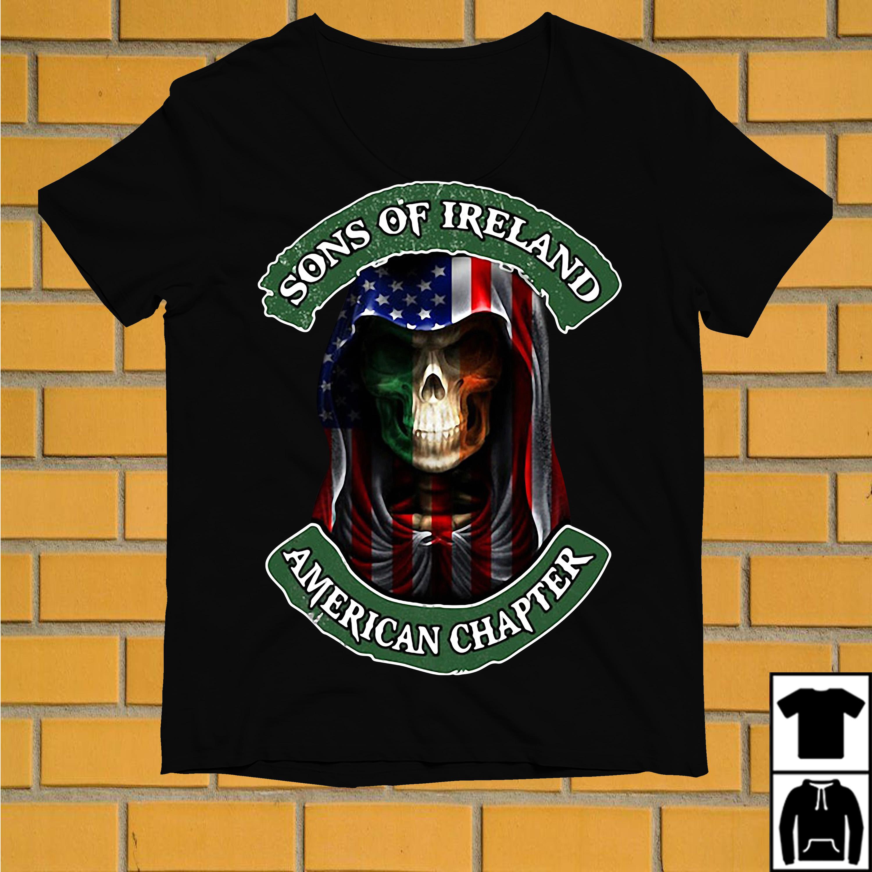 Skull sons of Ireland American chapter shirt