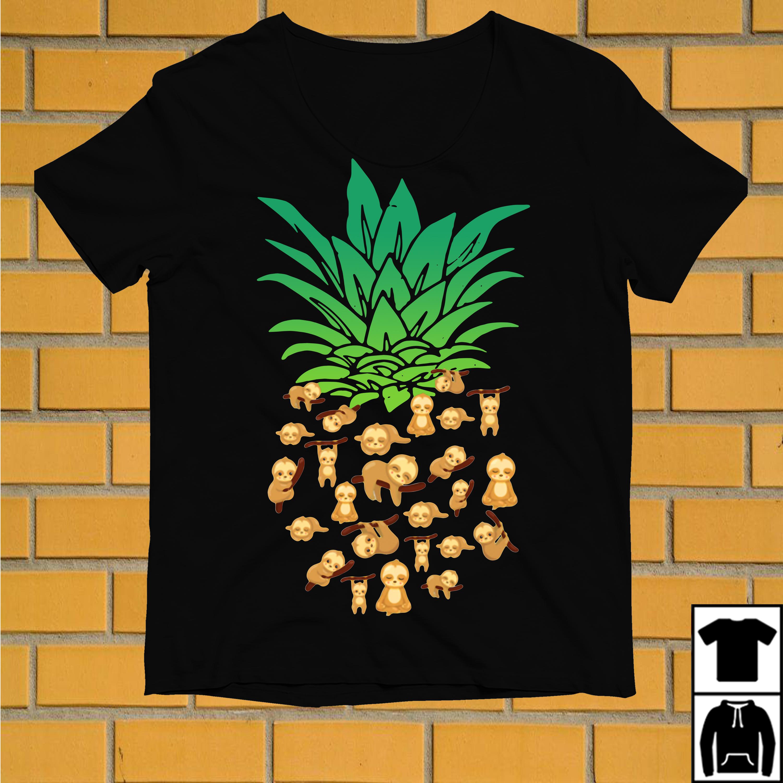 Sloth pineapple funny shirt
