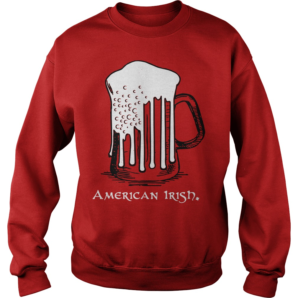 St Patrick's Day beer flag American Irish Sweater
