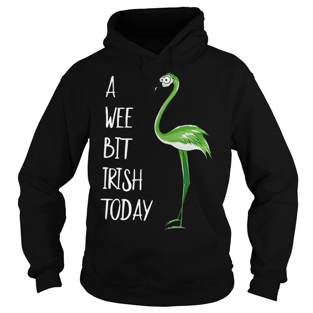 St Patrick's Day Flamingo a wee bit Irish Hoodie