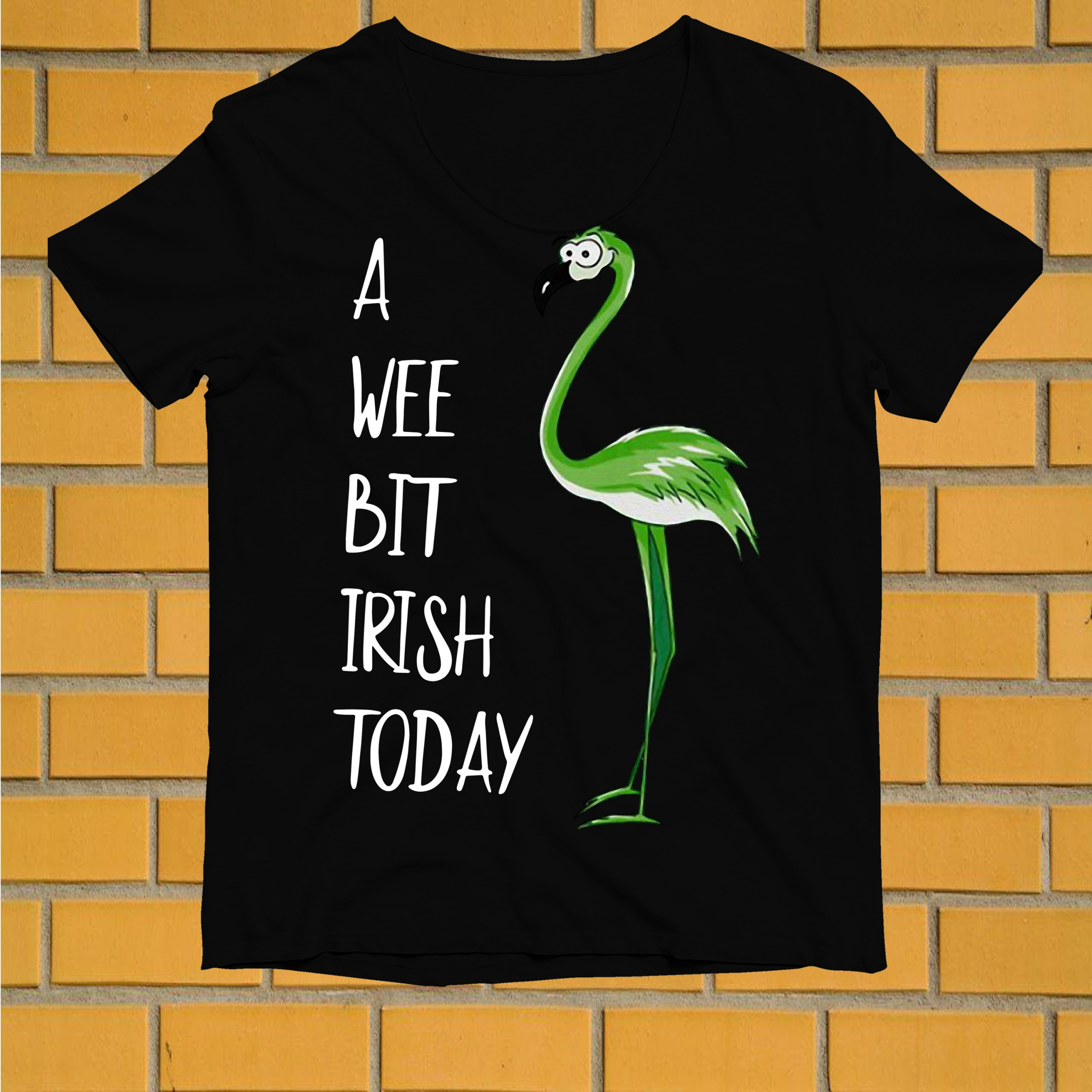 St Patrick's Day Flamingo a wee bit Irish shirt