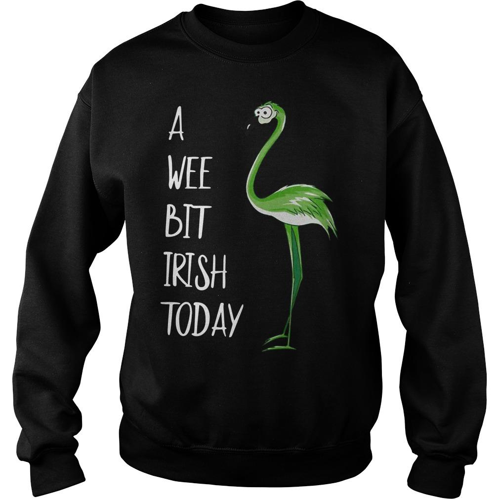 St Patrick's Day Flamingo a wee bit Irish Sweater