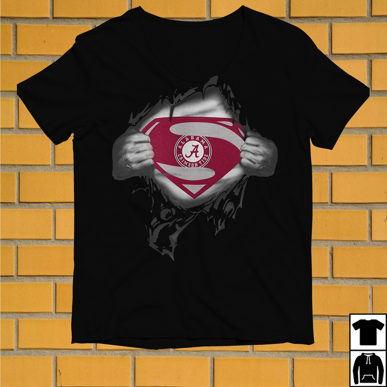 Superman Alabama Crimson Tide inside me shirt