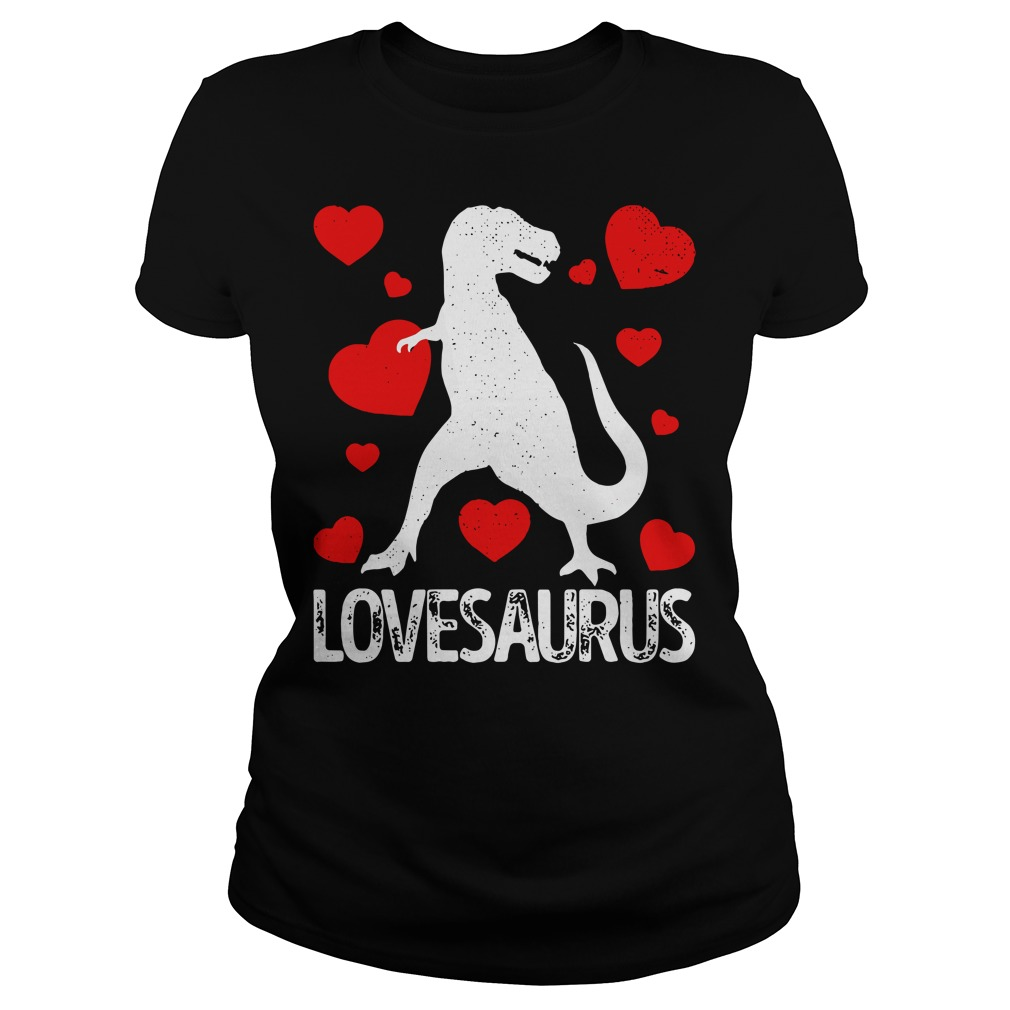 T-rex Love Saurus Ladies Tee
