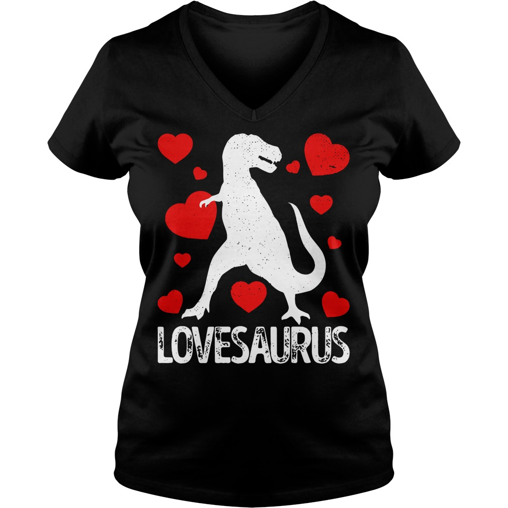 T-rex Love Saurus V-neck T-shirt