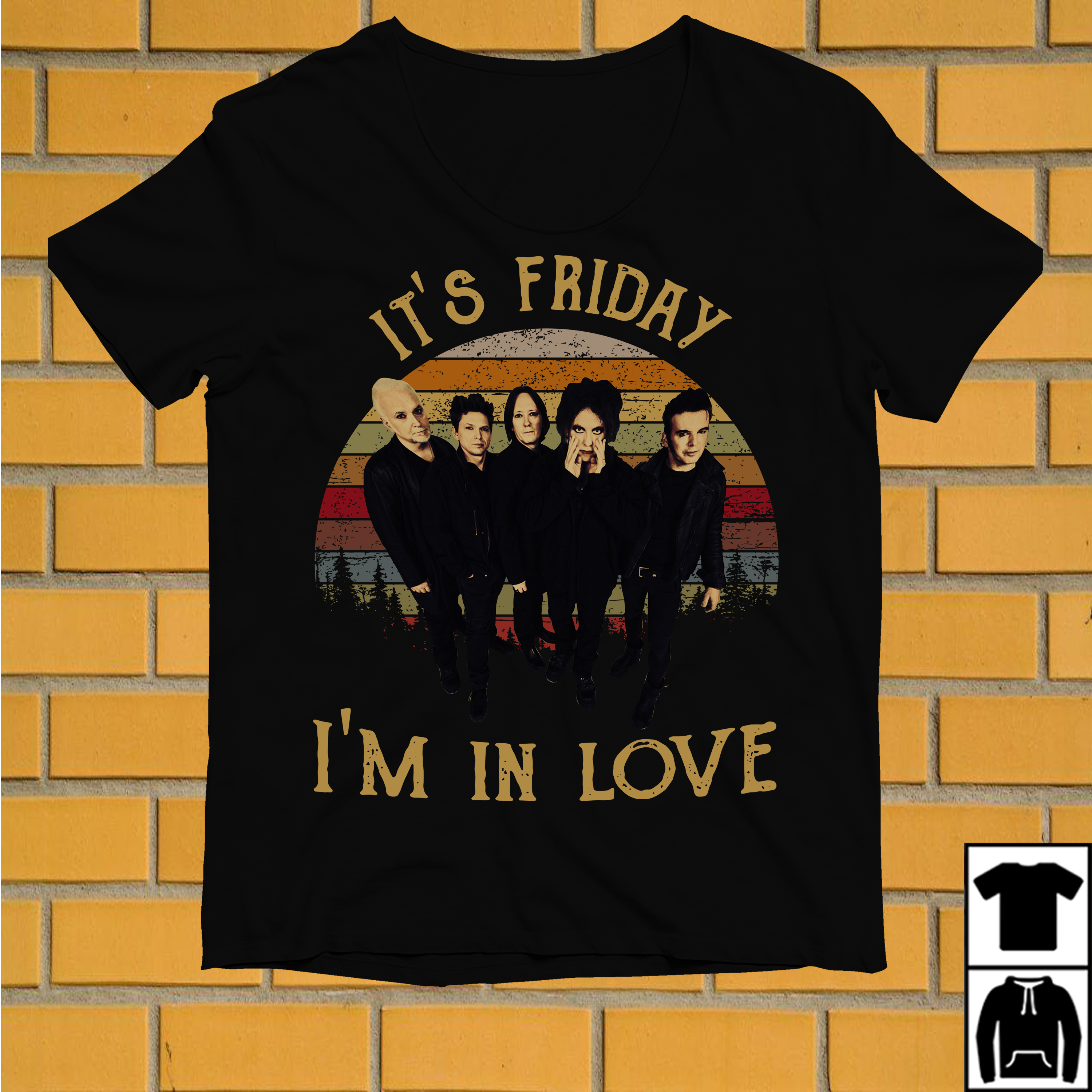 The Cure It's Friday I'm in love vintage shirt