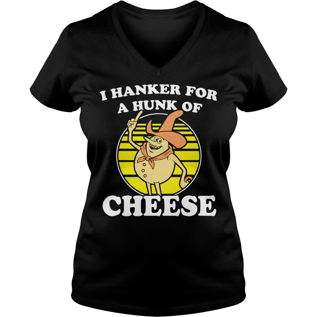 Time For Timer I hanker for a hunk of cheese V-neck T-shirt