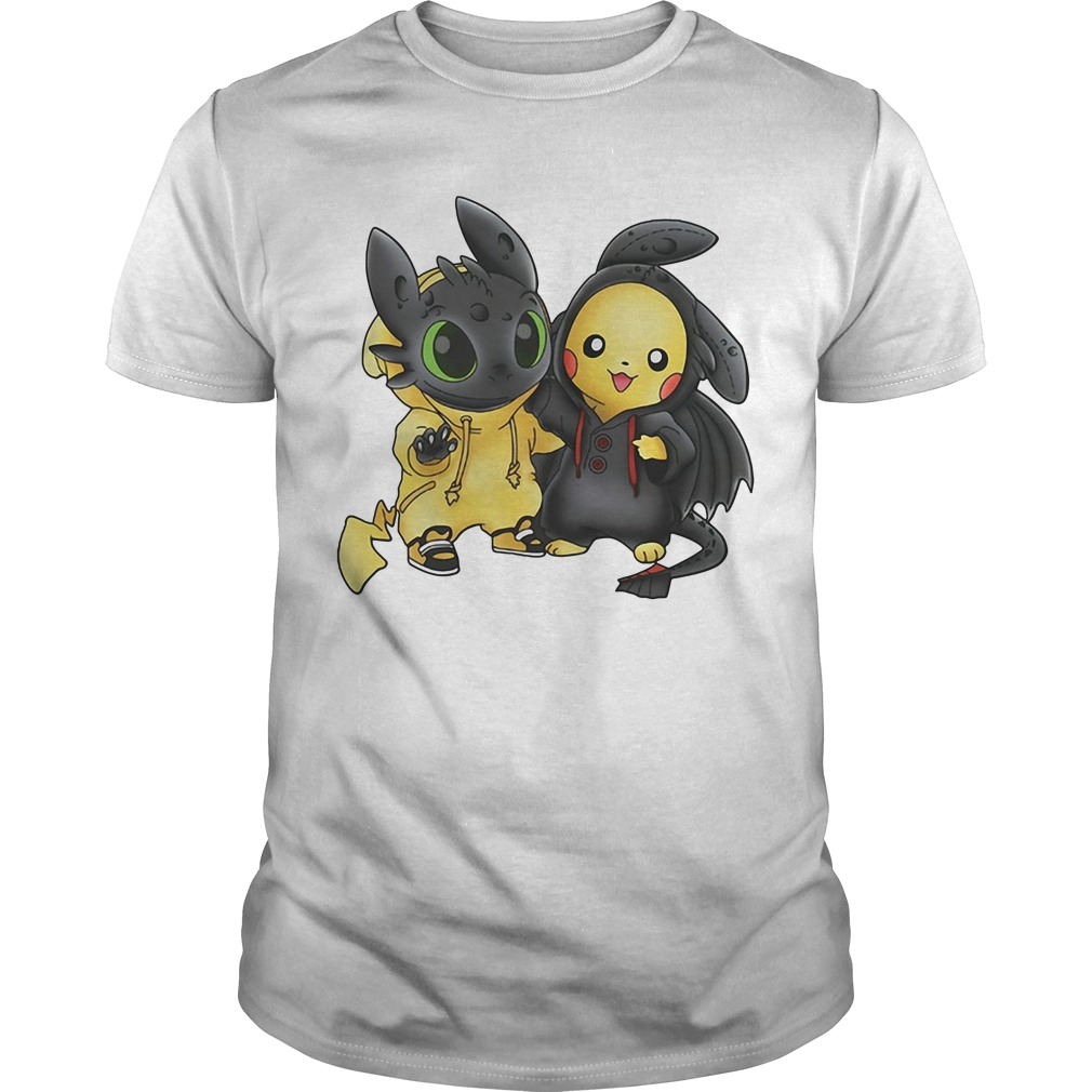 Toothless and Pikachu are best friends Guys shirt