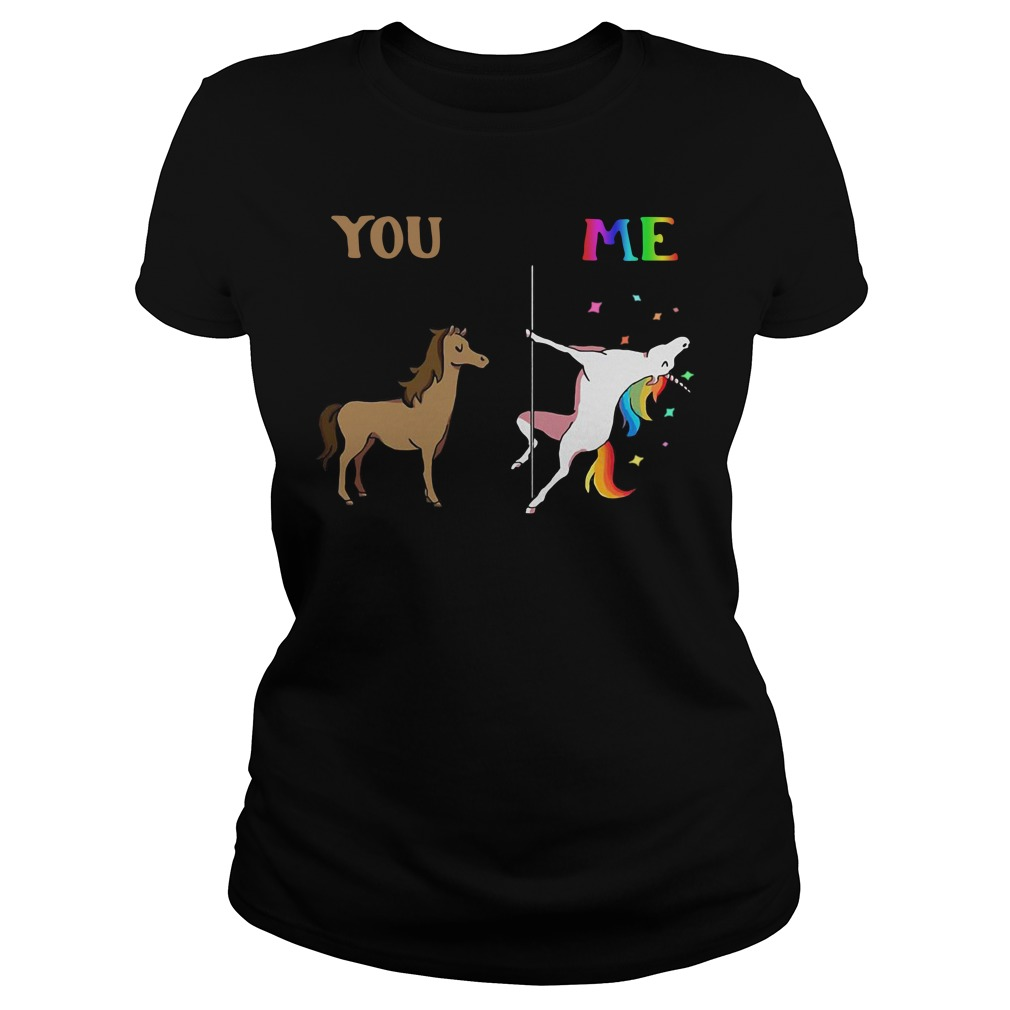You and me Unicorn dancing Ladies tee