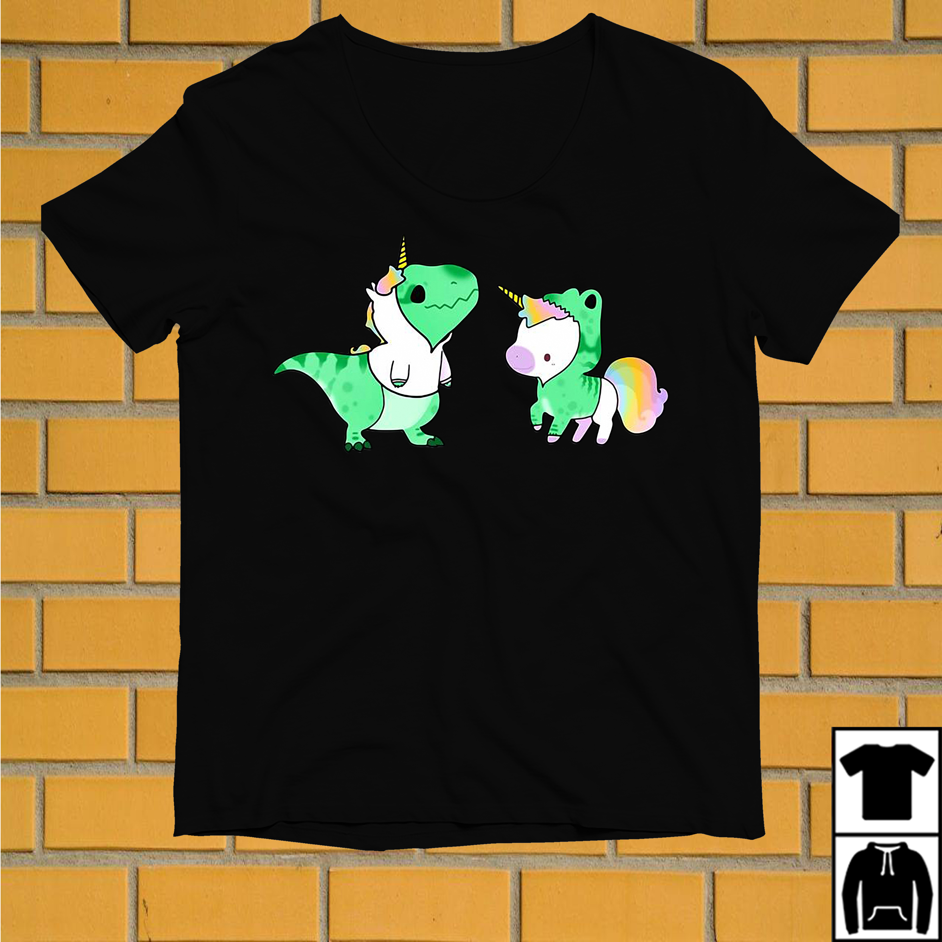 Unicorn and T-rex we are best friends shirt