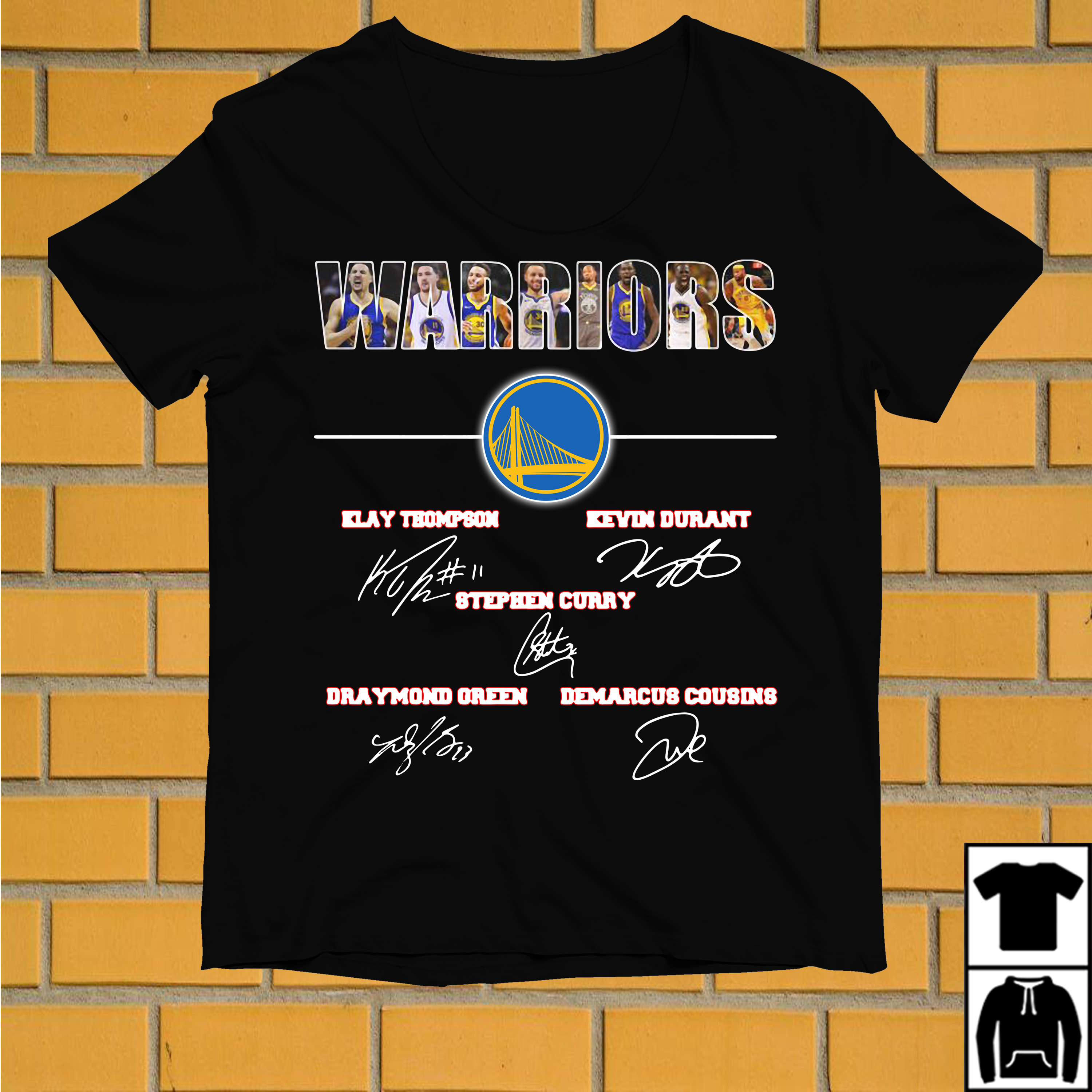 Warriors Klay Thompson Kevin Durant Stephen Curry Draymond Green shirt