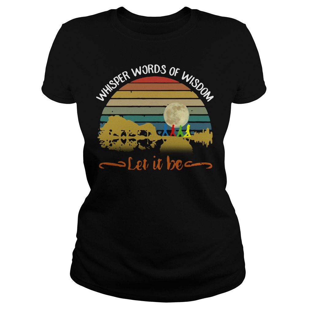 Whisper words of wisdom Let it be Guitar vintage Ladies tee