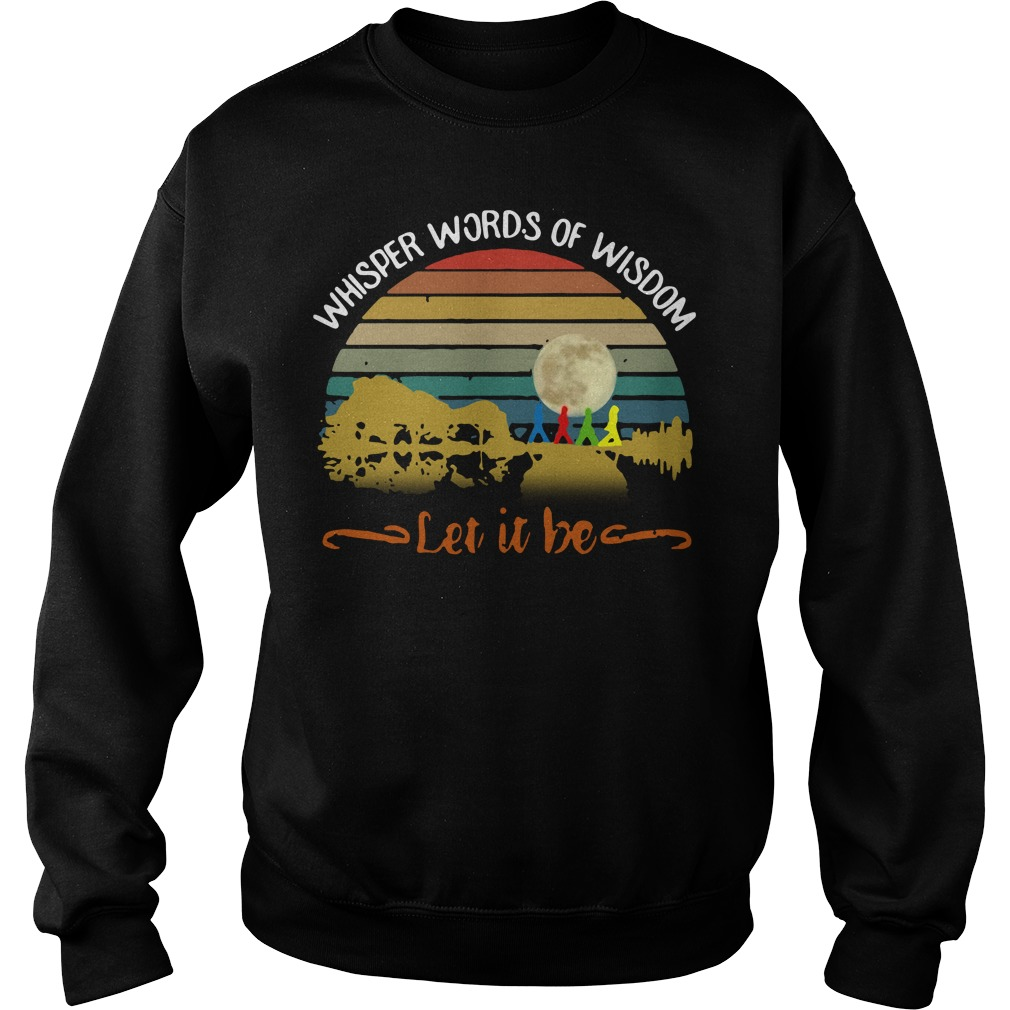 Whisper words of wisdom Let it be Guitar vintage Sweater