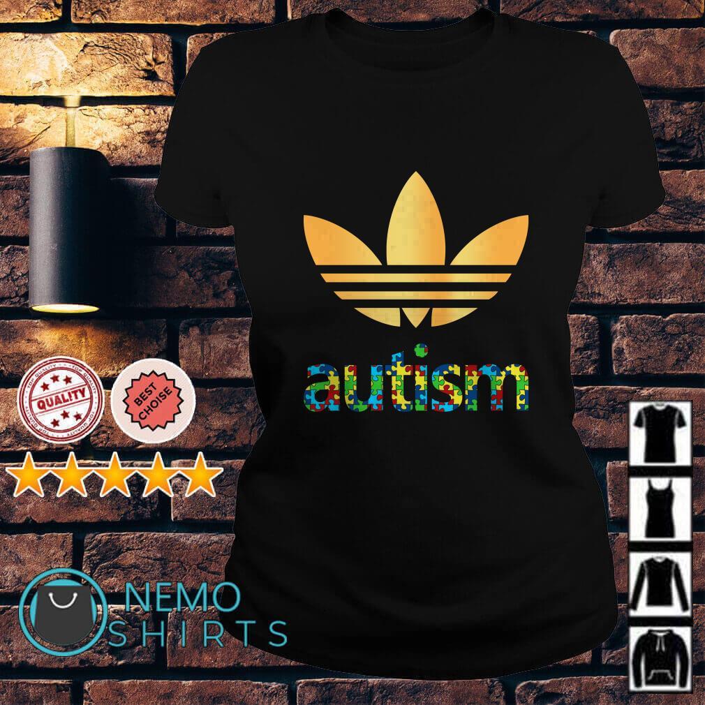 Autism Adidas Logo Autism Awareness Ladies tee