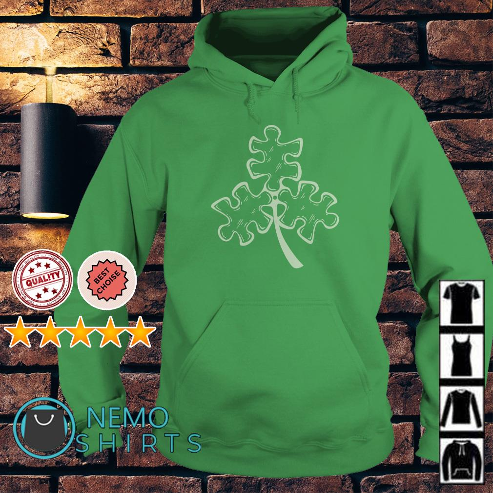 Autism shamrock St Patrick's day Hoodie