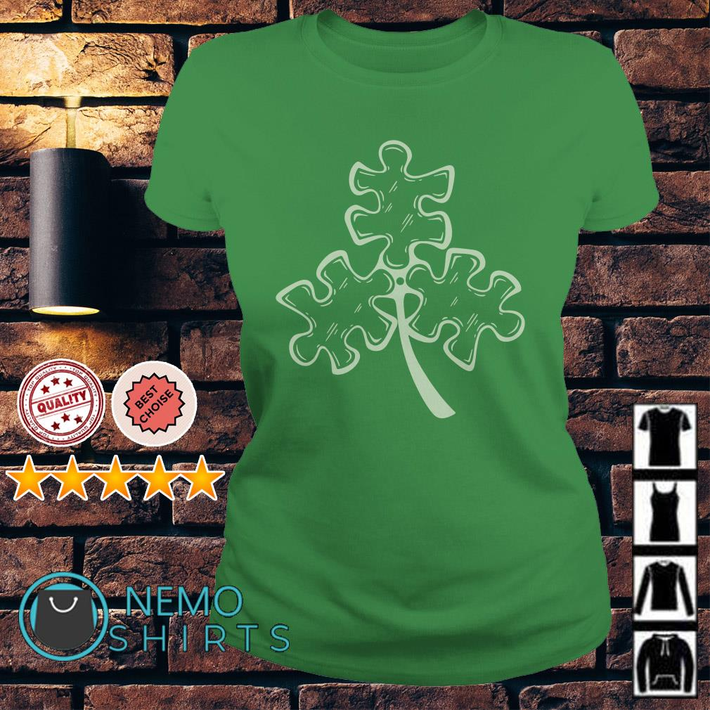 Autism shamrock St Patrick's day Ladies tee
