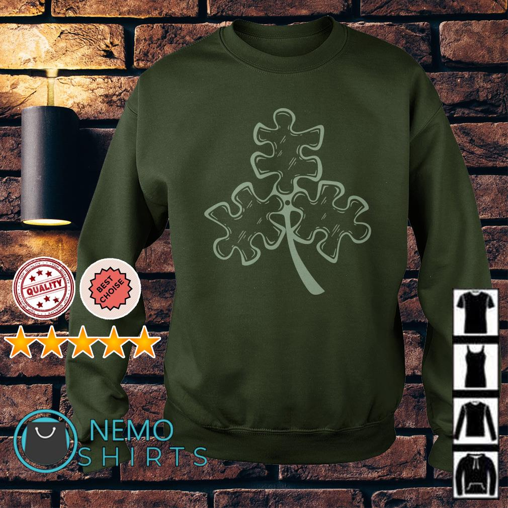 Autism shamrock St Patrick's day Sweater