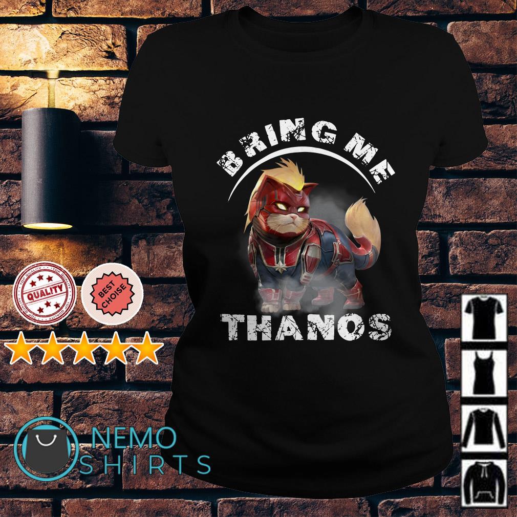 Captain America cat bring me Thanos Ladies tee