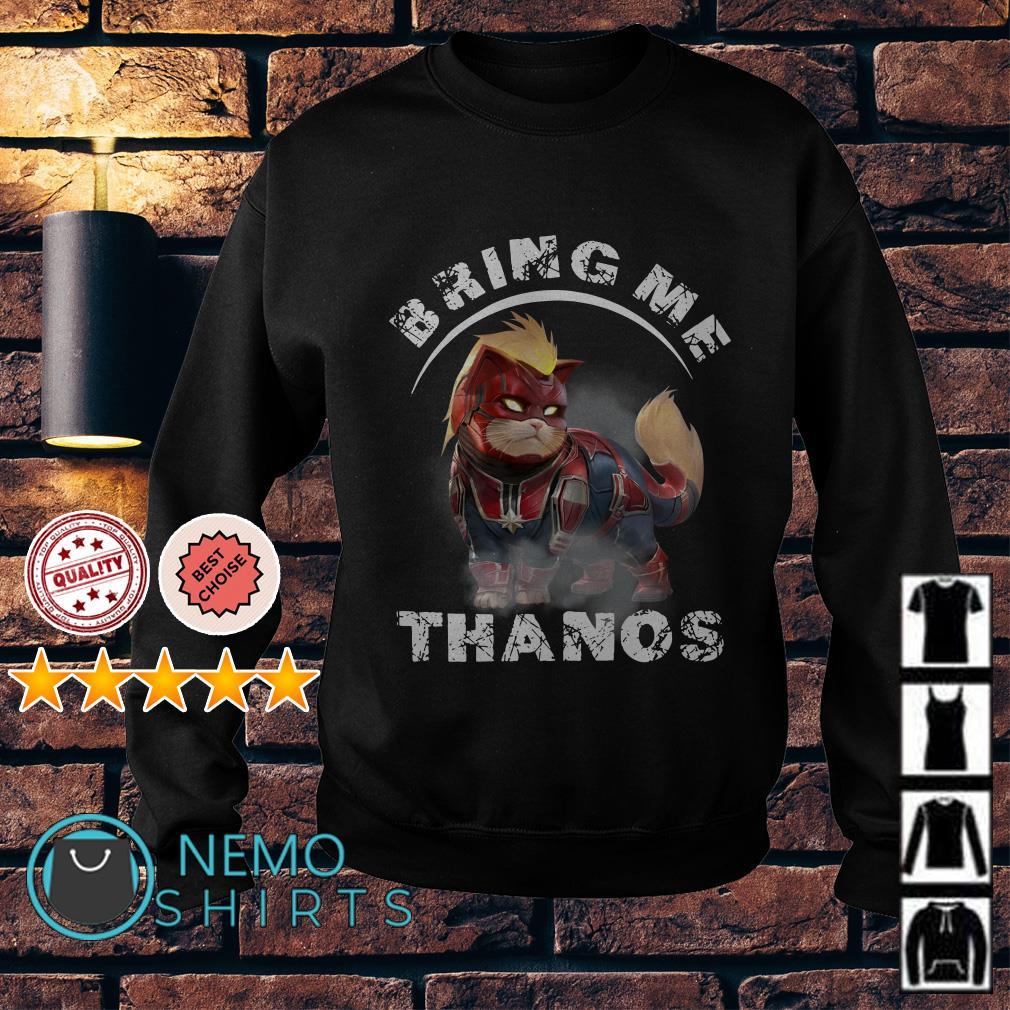 Captain America cat bring me Thanos Sweater