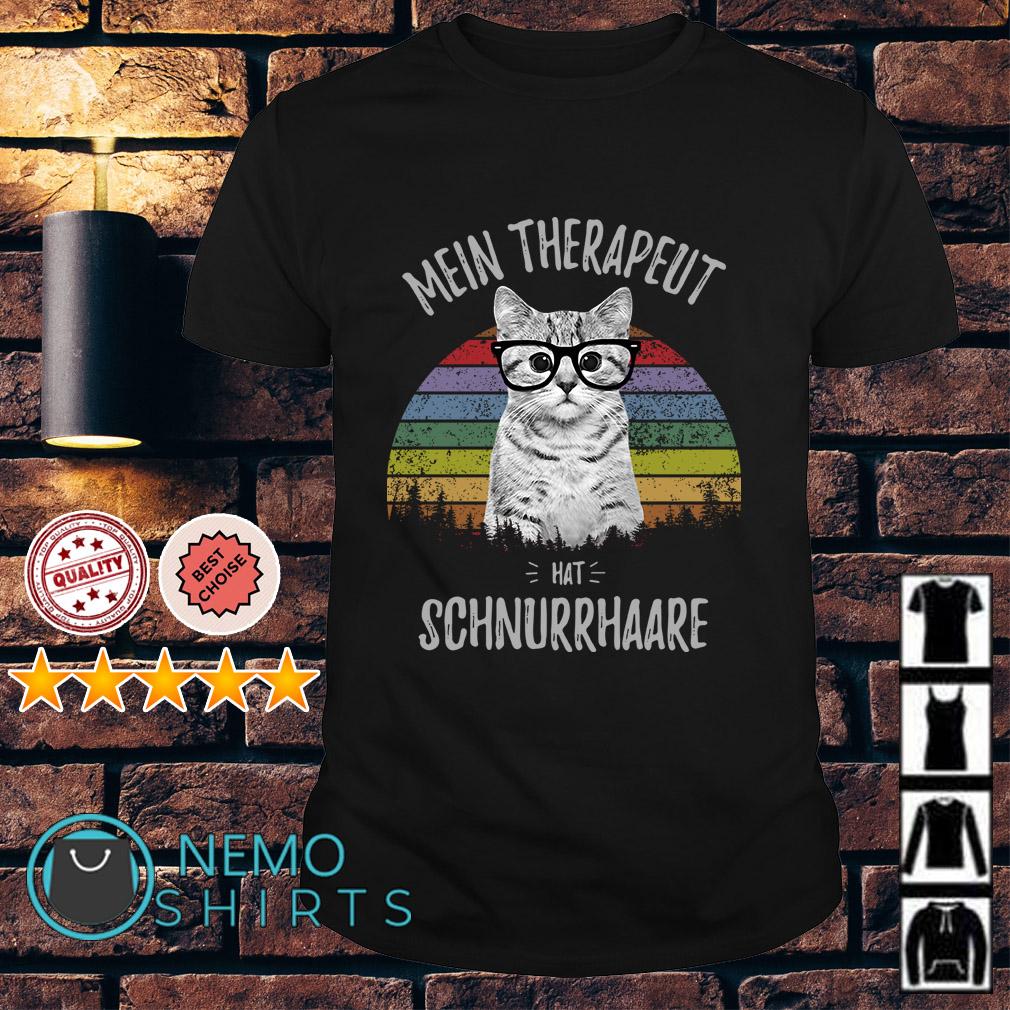 Cat Mein Therapeut hat Schnurrhaare vintage shirt