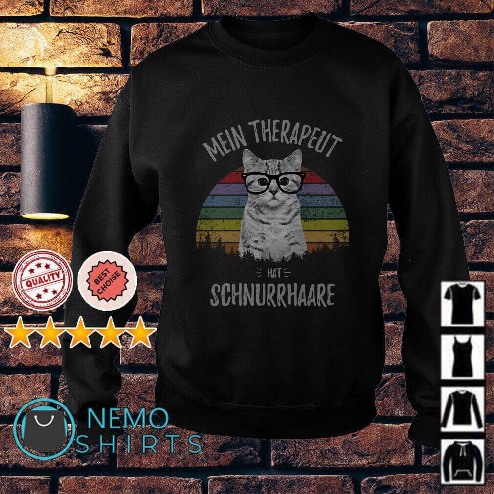 Cat Mein Therapeut hat Schnurrhaare vintage Sweater