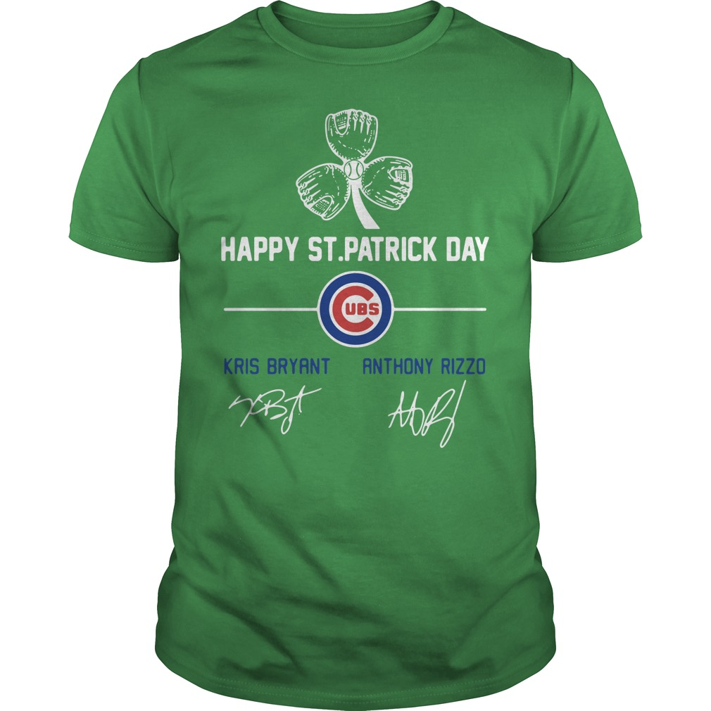 Chicago Cubs Kris Bryant and Anthony Rizzo happy St Patrick day Guys Shirt