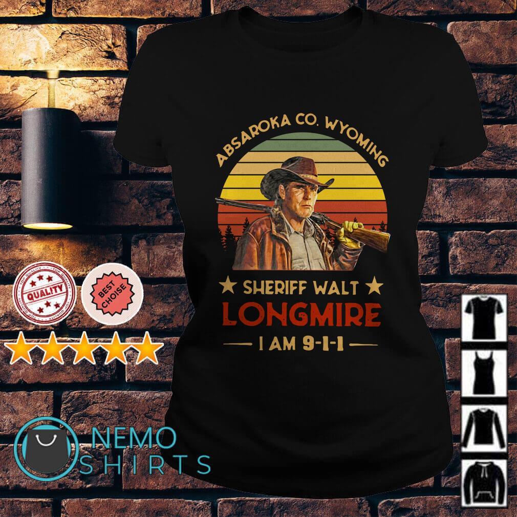 Craig Johnson Absaroka Co Wyoming Sheriff Walt Longmire I am 911 vintage Ladies tee