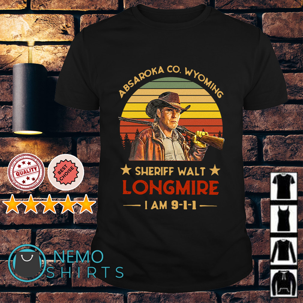 Craig Johnson Absaroka Co Wyoming Sheriff Walt Longmire I am 911 vintage shirt