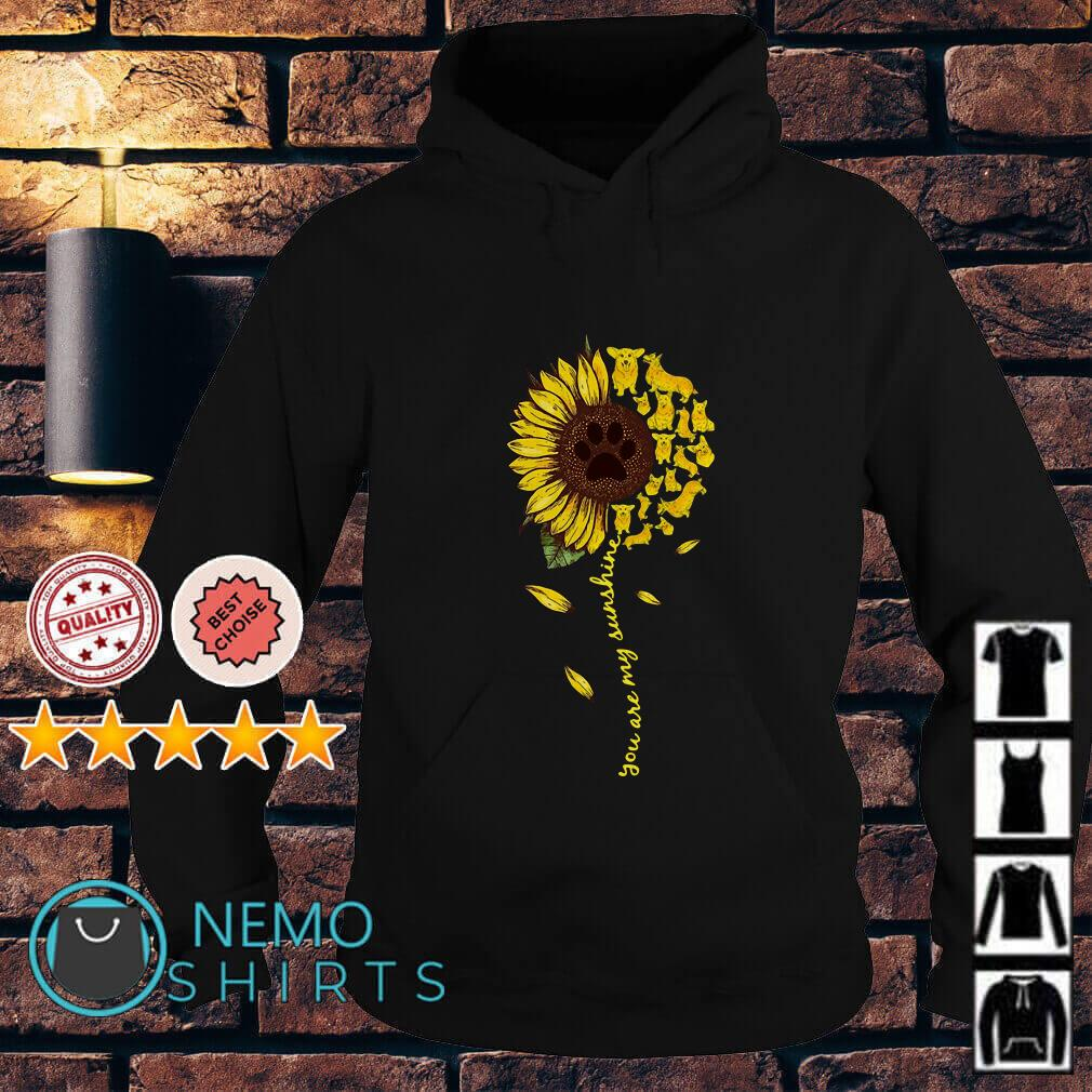 Daschund sunflower you are my sunshine Hoodie