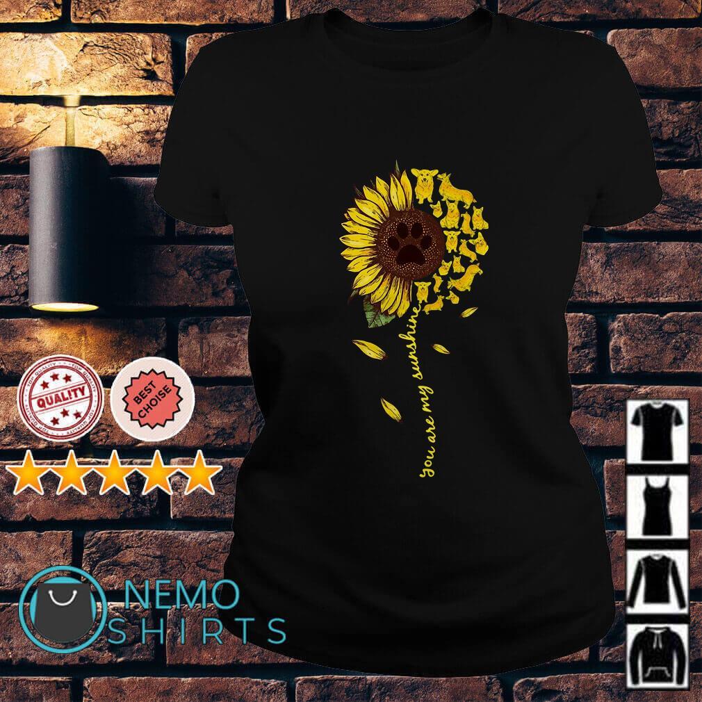 Daschund sunflower you are my sunshine Ladies tee