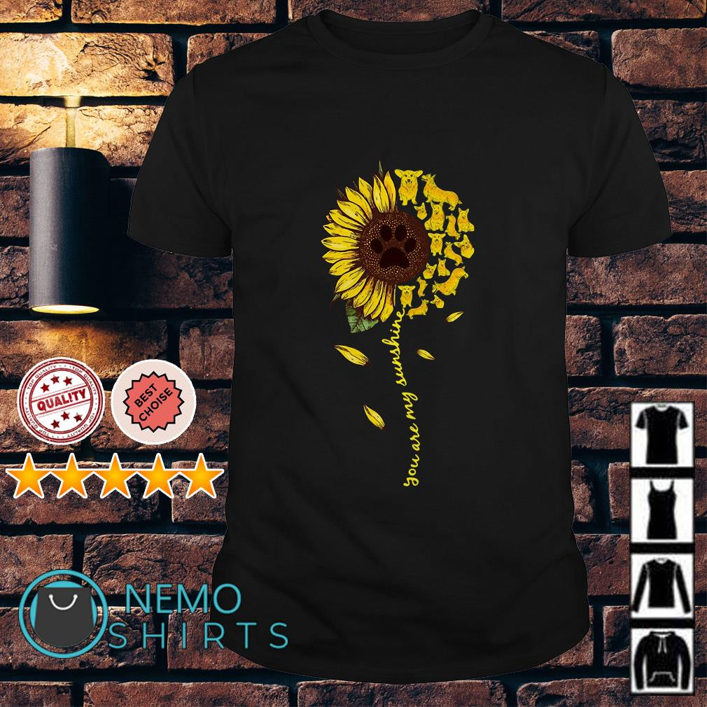 Daschund sunflower you are my sunshine shirt