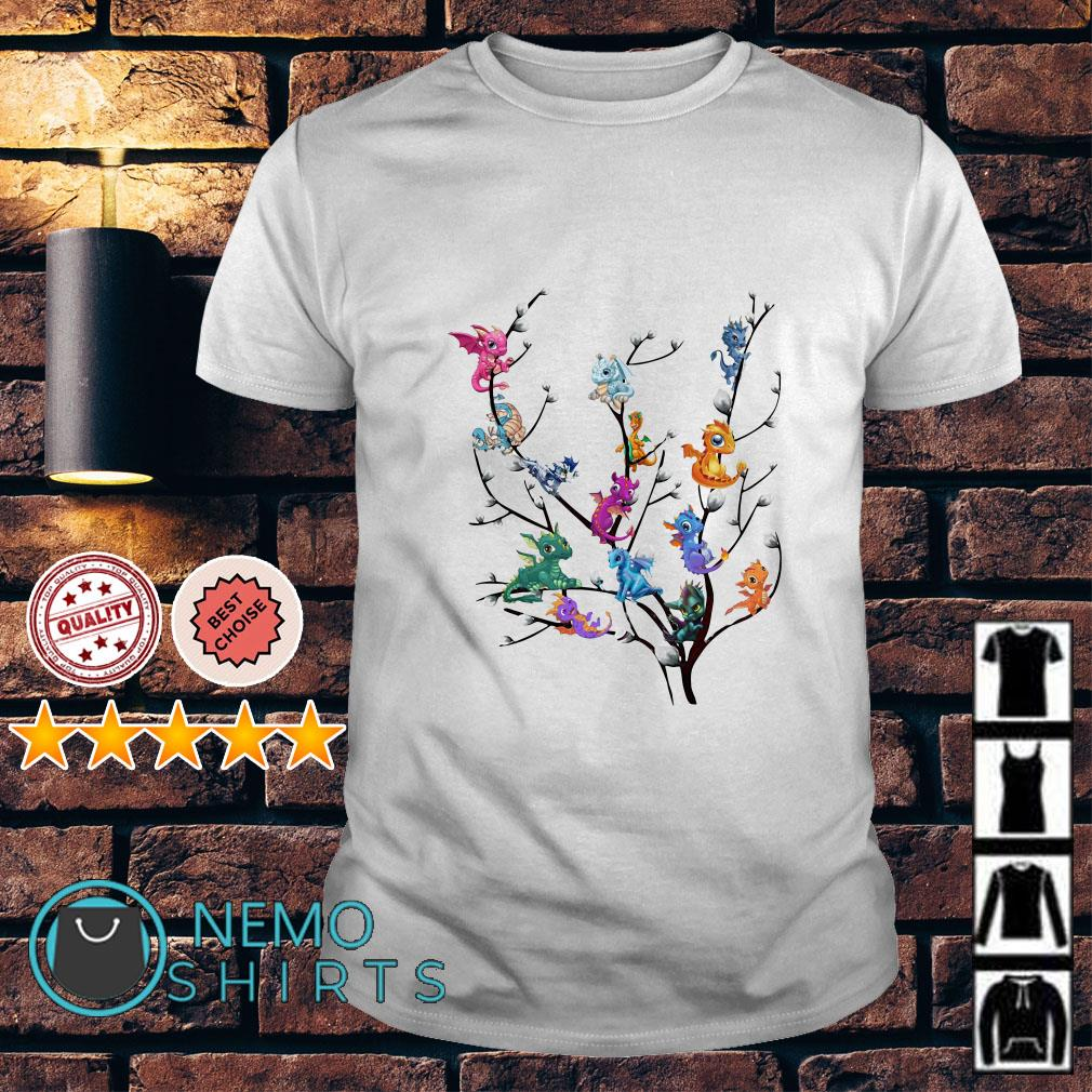 Dragons on willow tree shirt